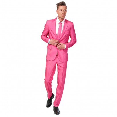 Suitmeister Solid Pink Anzug