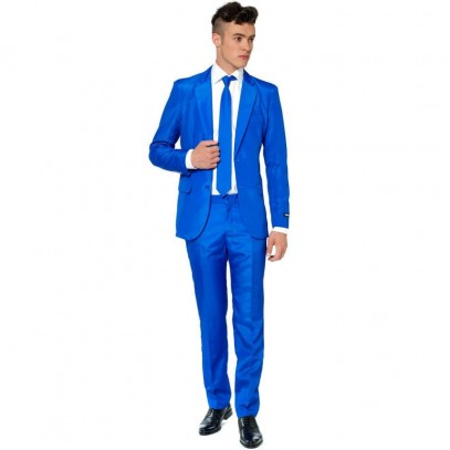 Suitmeister Solid Blue Anzug 1