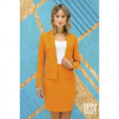 OppoSuits Foxy Orange Damen Kostüm