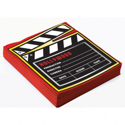 Hollywood Party Film Servietten 16x16cm