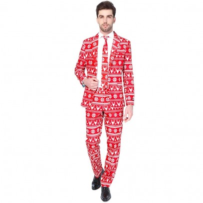 Suitmeister Christmas Red Nordic Anzug