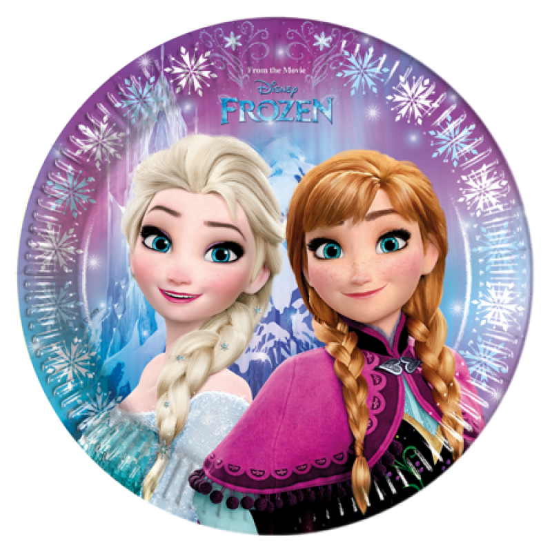 frozen anna und elsa pappteller 8 st ck. Black Bedroom Furniture Sets. Home Design Ideas