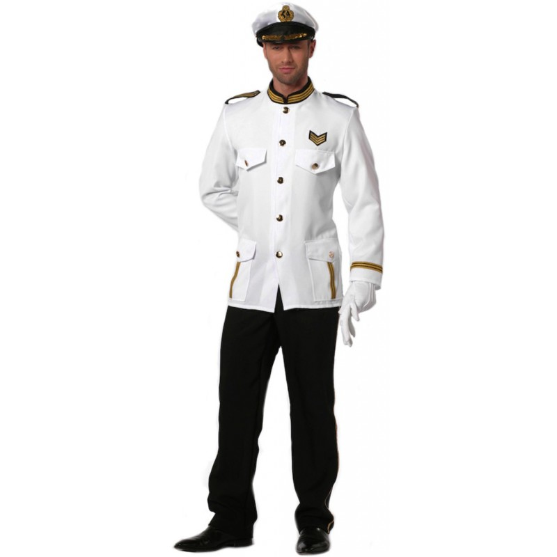 NAVY KAPITAIN Captain Marine Offizier Herren Kostüm Matrose Karneval Fasching