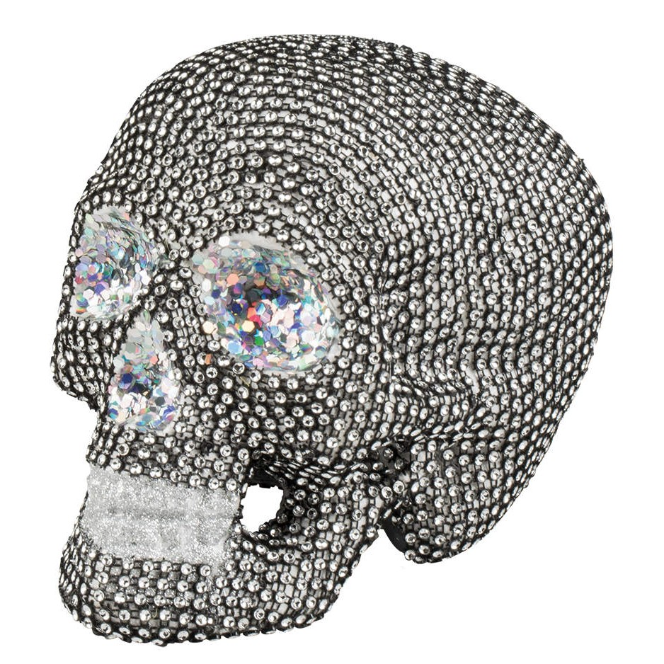 sparkly skull totenkopf deko. Black Bedroom Furniture Sets. Home Design Ideas