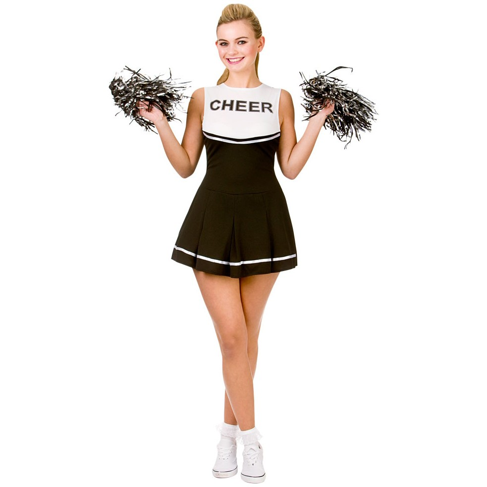 rachel high school cheerleader kost m schwarz. Black Bedroom Furniture Sets. Home Design Ideas
