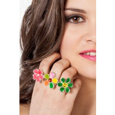 Flower Power Ringe in 3-Styles