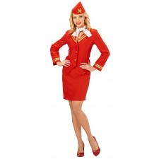 Amanda Air Stewardess Kostüm für Damen
