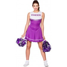 Brittany High School Cheerleader Kostüm violett