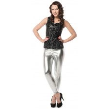 Glamour Leggings silberfarben 1