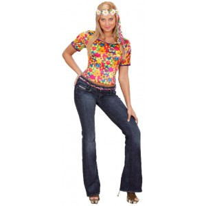 Flower Power Shirt für Damen