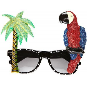 Hawaii Partybrille Papagei