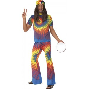 Hippie Kostüm Rainbow-Man 1