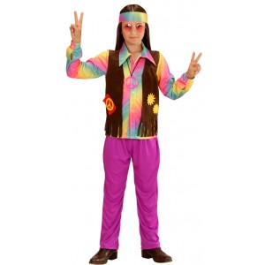 60's Rainbow Hippie Boy Kinderkostüm