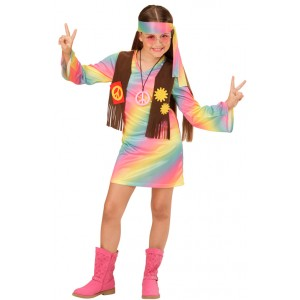 60's Rainbow Hippie Girlie Kinderkostüm