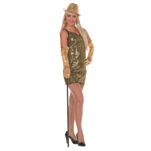 Disco Paillettenkleid in gold