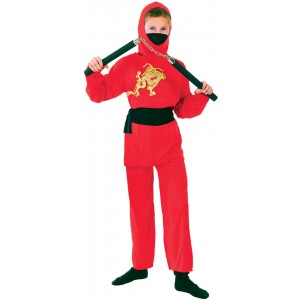 Red Ninja Fighter Kinderkostüm