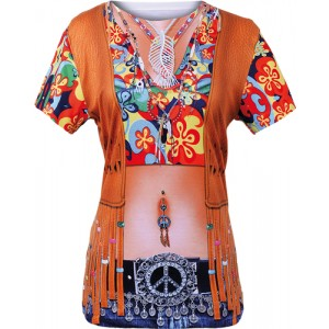 Hippie Damen 3D Shirt