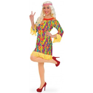 Flower Power Hippie Kleid Lizzie