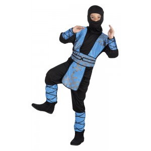 Blue Ninja Boy Kostüm