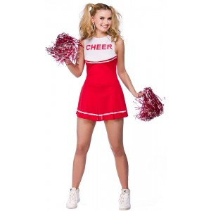Lindsay High School Cheerleader Kostüm rot