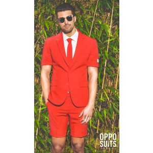 OppoSuits Summer Red Devil Anzug