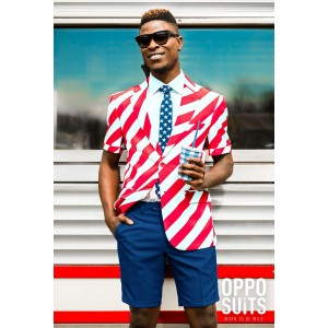 OppoSuits Summer United Stripes Anzug