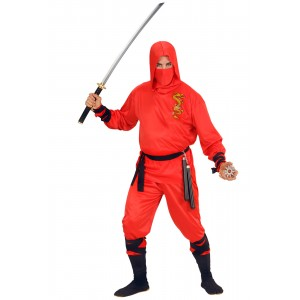 Red Ninja Fighter Kostüm für Herren