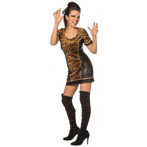 Sexy Tiger Lady Partykleid 1