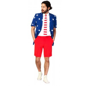 OppoSuits Stars and Stripes Sommer Anzug