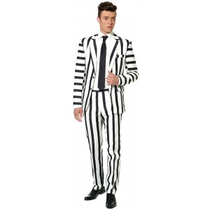 Suitmeister Striped Black White Anzug