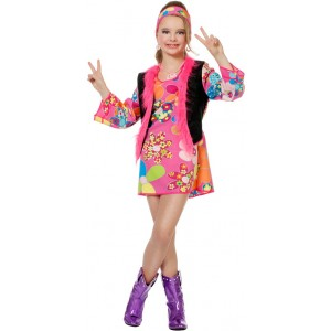Woodstock Girlie Hippie Kinderkostüm 1