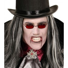 Dracula Brille in rot 2