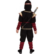 Ninja Fighter Kinderkostüm schwarz-rot
