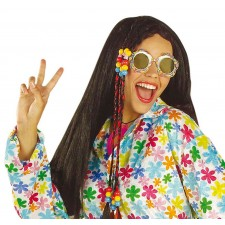 Bunte Flower Power Hippie Brille