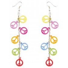 Bunte Hippie Peace Ohrringe