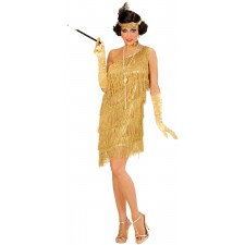 Charleston Flapper Lieselotte Damenkostüm gold 2