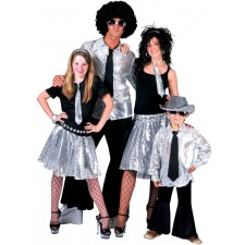 Saturday Night Disco Hemd silber