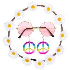 Flower Power Hippie Set 3-teilig