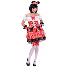 Mouse Girl Kostüm in rot 2