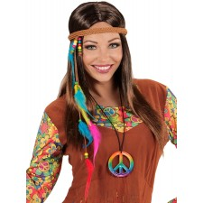 Rainbow Hippie Peace Kette