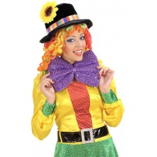 Premium Clown Fliege Samt-Pailletten-Style in 4 Farben