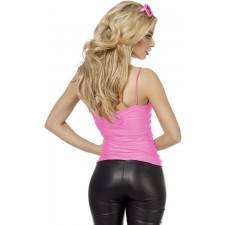 Sexy Disco Stretch-Top neon-pink 2