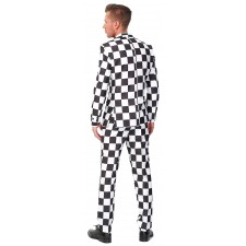 Suitmeister Checked Black White Anzug