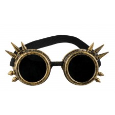 Steampunk Cyber Brille gold
