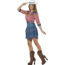 Wildwest Rodeo Girl Damenkostüm