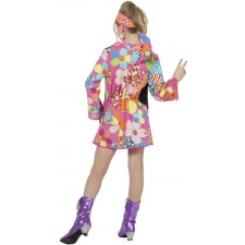 Woodstock Girlie Hippie Kinderkostüm 2