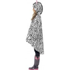 Zebra Party Poncho Regenschutz